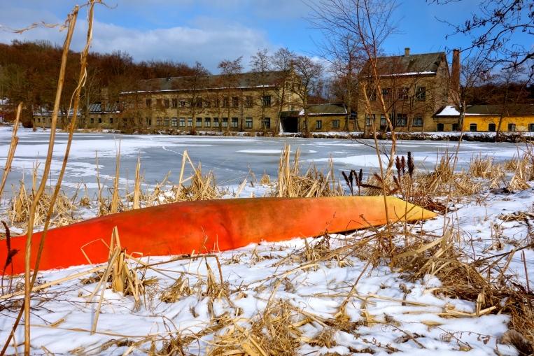 Rådvad Dam sidste vinter.