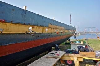 Repairing the Sea Stallion, Vikingeskibsmuseet, Roskilde Harbour,