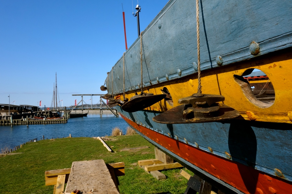 Repairing the Sea Stallion, Vikingeskibsmuseet, Roskilde Harbour,