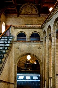 Indgangspartiet i biblioteket