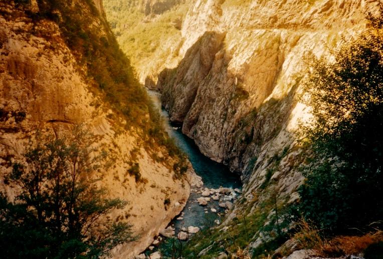 Dyb kløft Montenegro