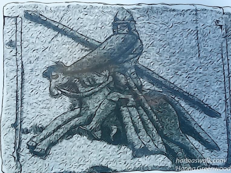 Ridder til hest, Billede på granitkvader fra begyndelsen af 1100 - tallet