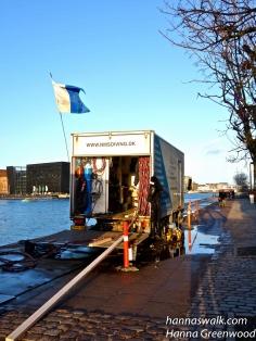 Dykkeraktiviteter på havnen