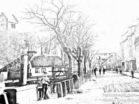 Lyngby Hovedgade 1900, fra Lyngby Taarbæk Stadsarkiv