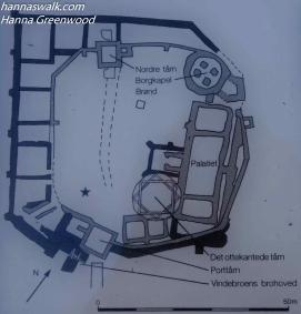 Oversigt over Søborg Slotsruin