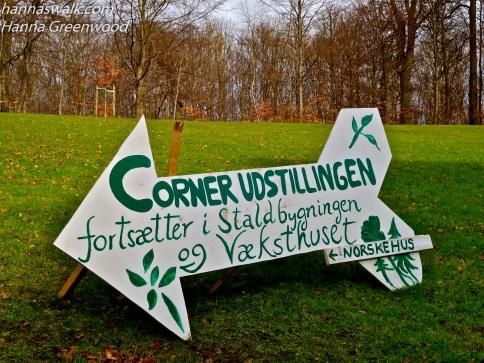 Roadsign to Corner exhibition