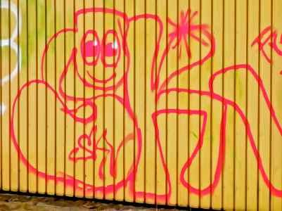 Glad graffiti på Flyvestation Værløse