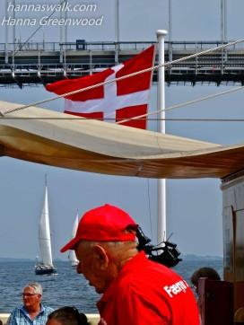 Sommerdag på færgen Møn