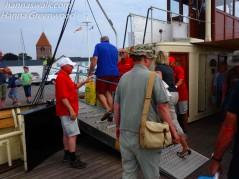 Afsked med 'Sommermændene' på færgen Møn