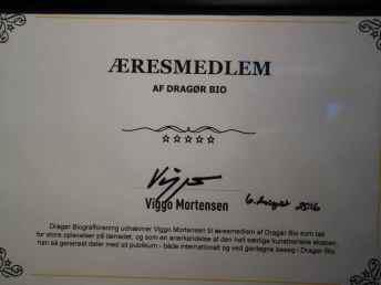 Æresmedlem Viggo Mortensen, Dragør Biograf