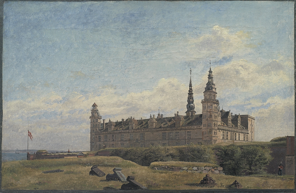 Constantin Hansen (1804-1880), Slottet Kronborg, 1834. SMK