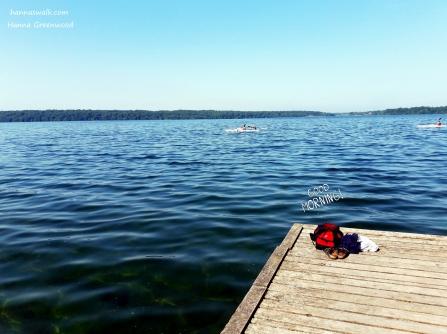 Morgenbadning i Furesøen